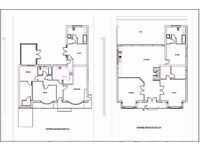 CHEAP ARCHITECTURAL SERVICES/PLANNING PERMISSION APPLICATIONS/BUILDING REGULATIONS-SCALE 2D DRAWINGS