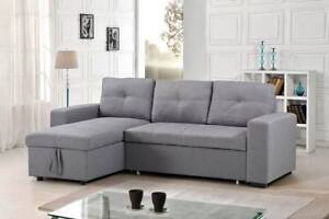 SOFA BED WITH REVERSIBLE STORAGE CHAISE
