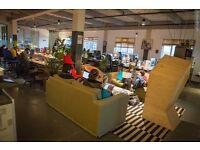 Are you looking for a coworking desk in a creative community like Hackney Wick? Available NOW!