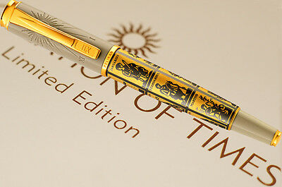PELIKAN FOUNTAIN P. CALCULATION OF TIMES M-nib  Limited Edition LE 18ct Gold Nib