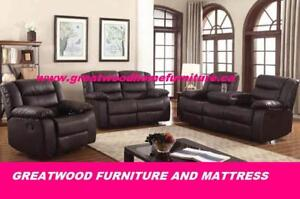 3 PIECE  RECLINER SET FOR $1099 ONLY....ROCKING CHAIR !!!