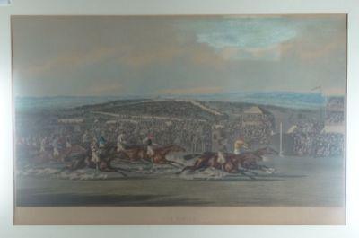Finish - Alken Summers - Aquatinta - Pferderennen Sport Pferd reiten - 1873