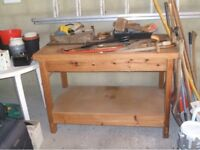 Workbench, hand-made, solid