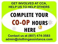 Students, complete your CO-OP hours at CCA!