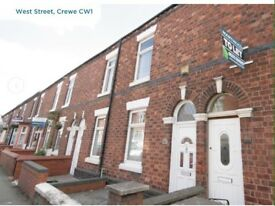 Two Bedroomed Terraced house in West street Crewe