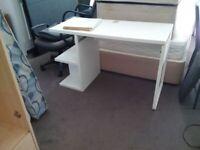 medium size desk with shelves can deliver