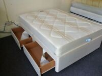 double divan bed with four drawers and good mattress can deliver