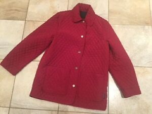 Woman's London Fog Reversible Quilted Coat