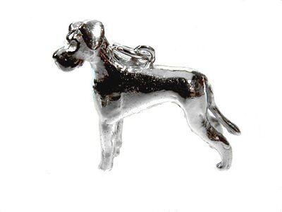 Deutsche Dogge Anhänger Silber 925 Hund Dogge Hunde Silberanhänger