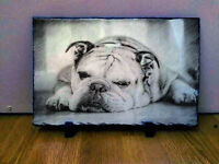 Customised Custom Personalised Sketch Art on Slate