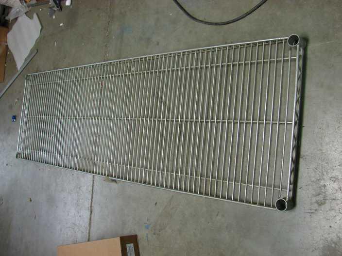 "Metro 18"" x 60"" zinc plated shelf 1860BR"