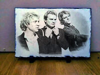 The Police Sting Band Singer Sketch Art Portrait on Traditional Slate Rare and Collectable 30x20cm