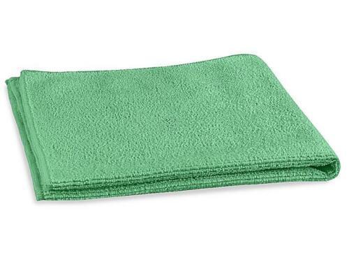 """Uline Microfiber General Purpose Towels - Green 16""""x16"""" - 12 Towels Per Pack"""