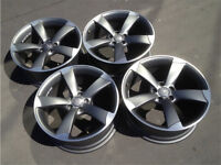 """19"""" GENUINE AUDI A5 S5 ROTOR ALLOY WHEELS 9J CONCAVED A3 S3 RS3 A4 S4 RS4 RS5 TTRS BLACK EDITION"""