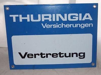 altes Emailschild Thringia Versicherung