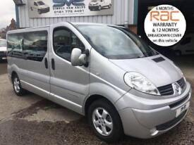 2013 62 RENAULT TRAFIC LWB SPORT 9 SEAT / SEATER MINIBUS TOP OF THE RANGE BUS