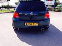 Vw golf mk4 1.9 tdi r32 replica 2002 quad exhaust uprated springs injectors wheels kit 07466337981