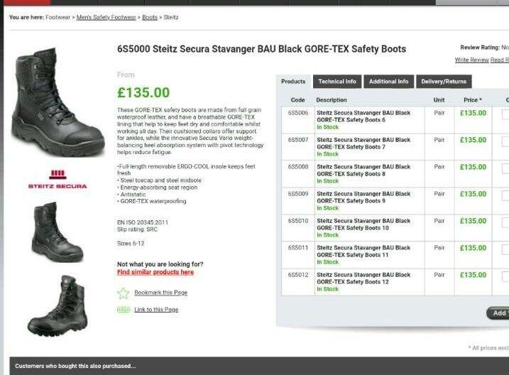 600420afcf5 Steitz Secura Stavanger GORE-TEX Safety Boots size 6 eu39   in Falkirk    Gumtree