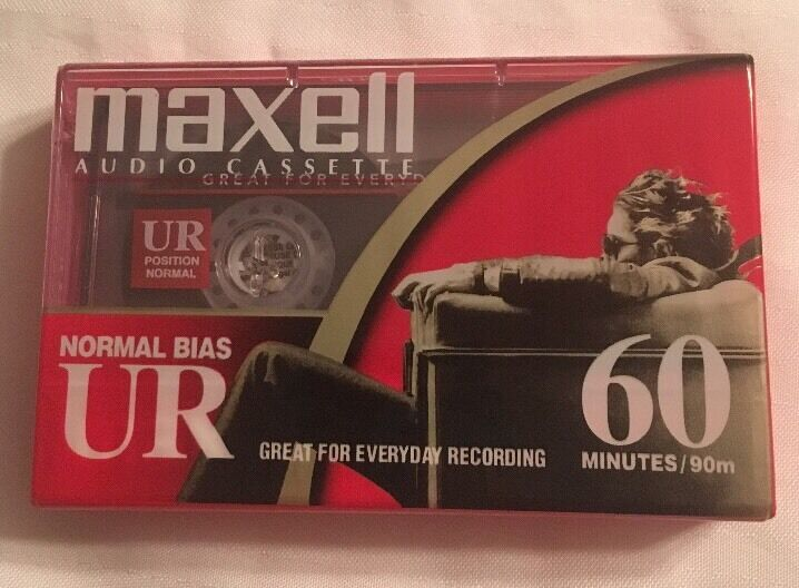 One New Sealed MAXELL Audio Cassette Tape 60 Minutes Normal Bias