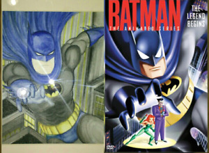 """Batman The Animated Series Watercolour Painting 8.5"""" x 11"""""""