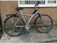 Btwin bike, bicycle, hybrid bike, suspension, 700c, unisex,