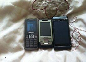 Three phones spare or repairs