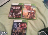 Bullet Storm, L.A. Noire and Max Payne 3 for xbox 360