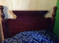 Maple Single Headboard and metal frame