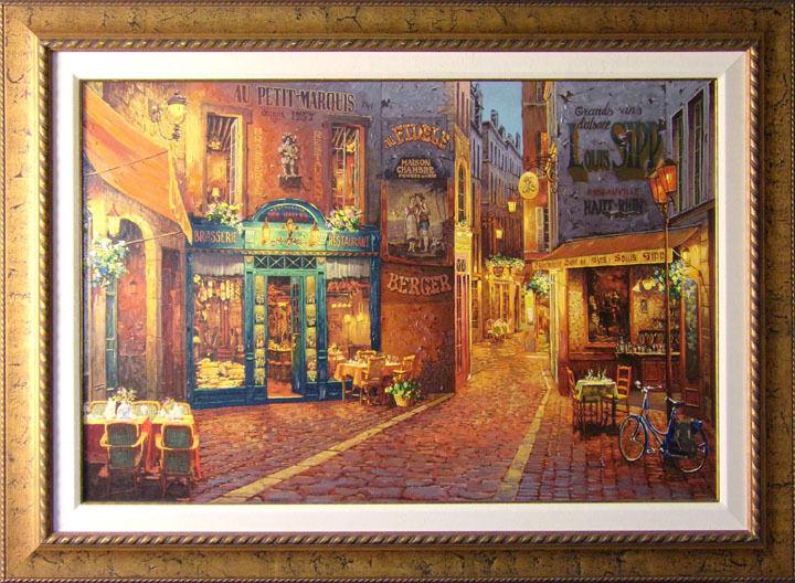 "Viktor Shvaiko ""au Petit Marquis"" Hand Signed W/custom Frame Make An Offer!"