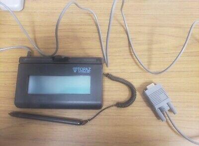 Topaz T-l-460-b-r Siglite Digital Signature Pad Serial