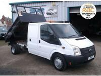 2014 14 FORD TRANSIT 350 CREW / DOUBLE CAB STEEL TIPPER DRW RWD IN GOOD CODITION