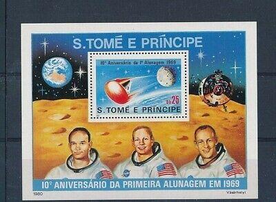 D241109 Space Astronauts Moonlanding Apollo S/S MNH S.Tomé E Principe