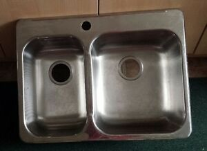 REVERSE DBL STAINLESS STEEL KITCHEN SINK