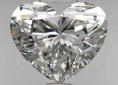 GIA Certified Loose Diamond VVS2 F Color 1 Ct Heart Shaped Excellent Cut