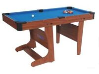 BCE CLIFTON4Ft 6IN FOLDING POOL TABLE FOR SALE