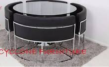 new Hideaway dining table set black or white chairs & dining tabl Casula Liverpool Area Preview