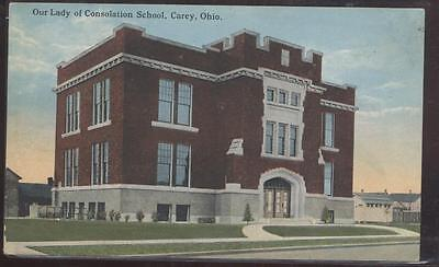 Postcard CAREY,Ohio/OH   Our Lady of Consolation Catholic School view (Our Lady Of Consolation School Carey Ohio)