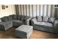Corner Sofa Set - Grey Corner Sofa - 2 3 Seater Corner Sofa Set - Brand New - A+ Feedback