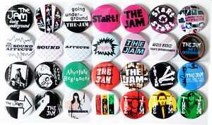 The-Jam-1980-1982-Badge-Set-28-Quality-Pin-Button-Badges-Punk-Mod