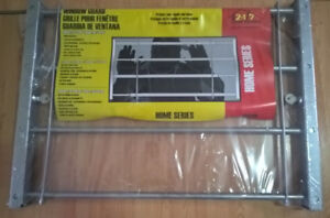 "Home Security Window Guard Bars with Locks,  24"" to 40""  wide"