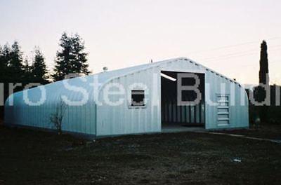 Durospan Steel 30x55x14 Metal Garage Building Kit Diy Workshop Factory Direct
