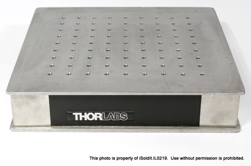 "THORLABS 12""x12"" STAINLESS OPTICAL BREADBOARD 1/4-20NC Holes on 1"" Grid"