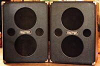 2 Vintage Univox 2x12 Amplifier Cabinets U1205 for sale