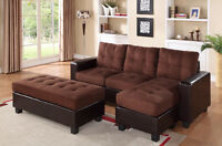 $595 - Chocolate Sectional