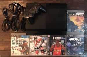 PS3 Slim 250GB CECH-4001B With Controller & 5 Games