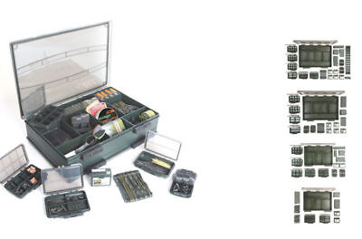 New Fox F Tackle Box Single Double Deluxe Medium Large Set - Full Range - Carp