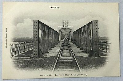 early 1900s Antique Postcard Saigon Vietnam Tonkin Hanoi Railroad Bridge