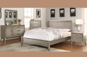 Queen Size Hardwood Platform Bed Frame