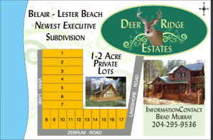 NEW!!! 1 - 2 Acre Cottage Lots for Sale in Belair-Lester Beach