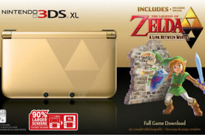 Limited Edition - Zelda 3DS with Box, Hard shell case, games